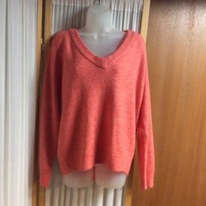 H&M Basic v-neck sweater coral